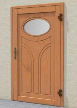 Energy saving wooden  steel doors