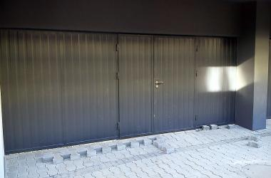 Technical non-insulated doors - single metal sheet